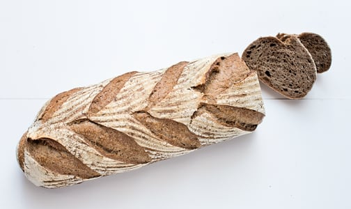 Dark German Rye Loaf Sliced - Yeast, Sugar & Fat Free- Code#: BR193