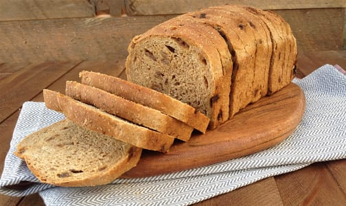 Organic Cinnamon Raisin Sliced Bread- Code#: BR3114
