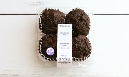 Gluten Free, Chocolate, Zucchini & Cherry Muffins- Code#: BR3157