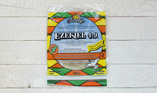 Organic Ezekiel Sprouted Grain Tortillas - 10 inch (Frozen)- Code#: BR321
