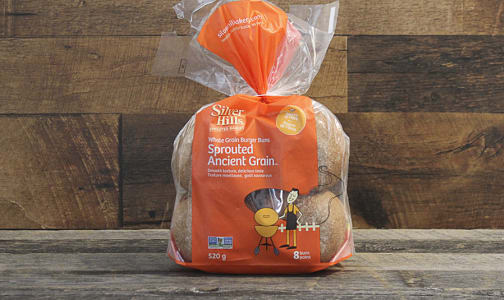 Sprouted Ancient Grain Hamburger Buns (Frozen)- Code#: BR8001