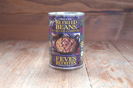 Organic Refried Beans with Green Chili - BPA Free- Code#: BU0109