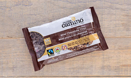 Organic Mini Chocolate Chips - Semi-Sweet- Code#: BU0120