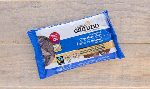 Organic Sugar-FREE Chocolate Chips 100% Cacao- Code#: BU0123