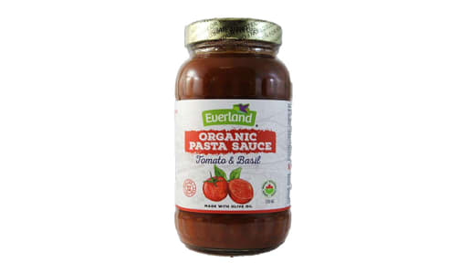 Organic Tomato Basil Pasta Sauce- Code#: BU0256