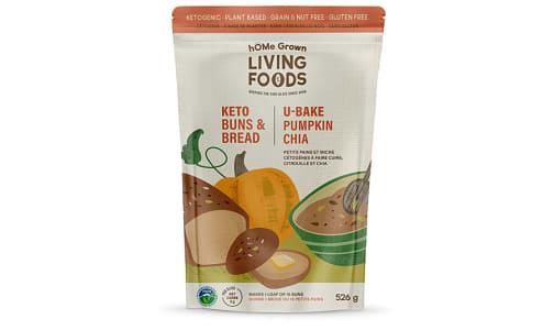 Organic U Bake Keto Bread - Pumpkin Chia     Net Carbs: 3g- Code#: BU0313