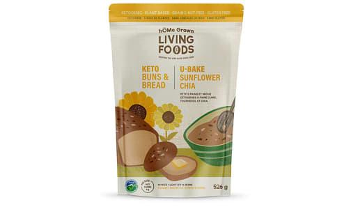 Organic U Bake Keto Bread - Sunflower Chia    - Net Carbs: 4g- Code#: BU0314