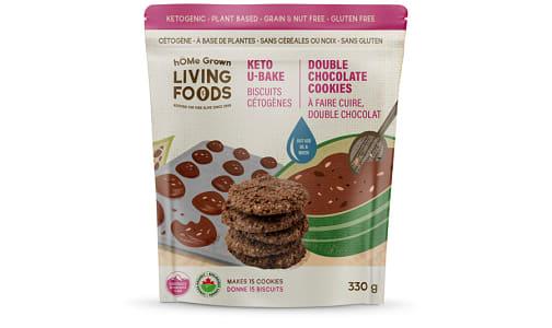 Organic U Bake Keto Cookies - Double Chocolate- Code#: BU0315