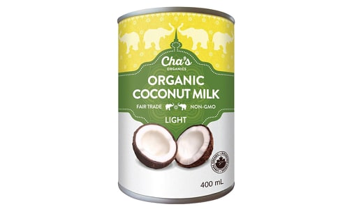 Organic Light Coconut Milk- Code#: BU0342