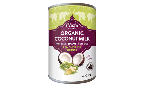 Organic Lemon Ginger Coconut Milk- Code#: BU0345
