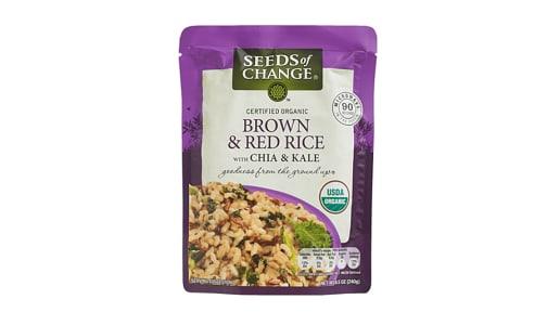 Organic Brown & Red Rice with Chia & Kale- Code#: BU0362