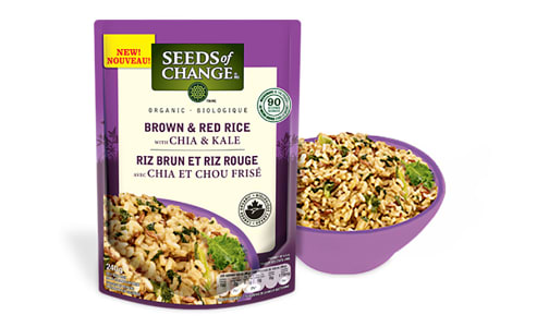 Organic Brown & Red Rice with Chia & Kale- Code#: BU0362