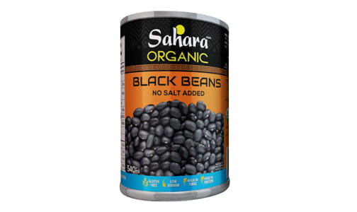 Organic Black Beans - No Salt- Code#: BU0484
