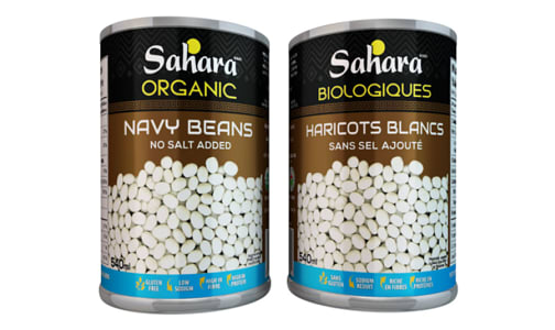 Organic Navy Beans - No Salt- Code#: BU0488