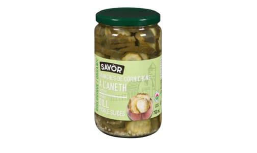Organic Sliced Dill Pickles- Code#: BU0772