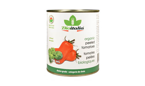 Organic Peeled Tomatoes with Basil- Code#: BU1326