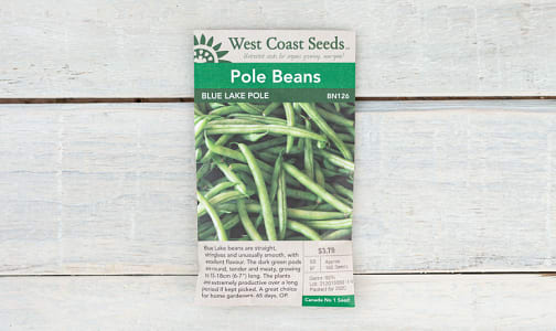 Blue Lake  Pole Bean Seeds- Code#: BU1764