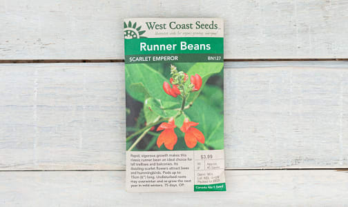 Scarlet Emperor  Runer Bean Seeds- Code#: BU1765
