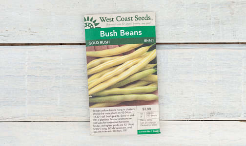 Gold Rush Yellow Wax Bean- Code#: BU1768