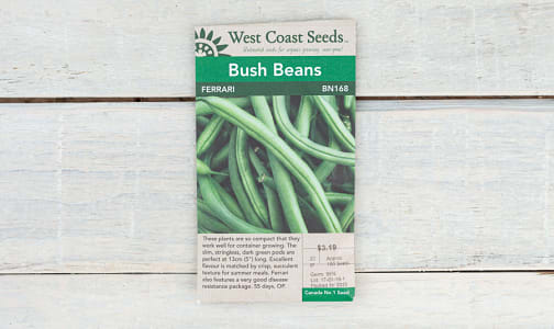 Ferrari  Bush Bean Seeds- Code#: BU1769