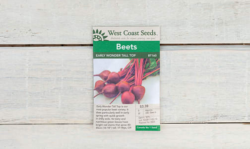 Early Wonder  Tall Top Beet Seeds- Code#: BU1772