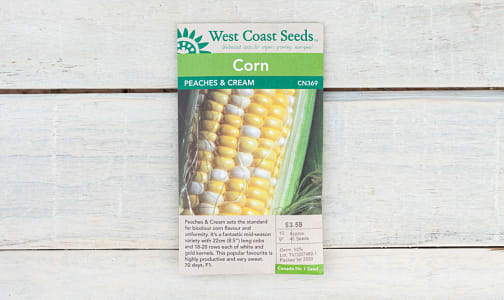 Peaches and Cream  Corn Seeds- Code#: BU1782