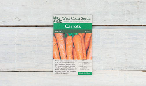 Bolero  Carrot Seeds- Code#: BU1788