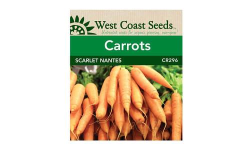 Scarlet Nantes  Carrot Seeds- Code#: BU1793