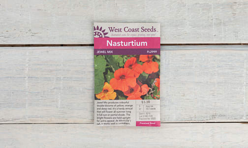 Jewel Mix  Nasturtium Seeds- Code#: BU1802