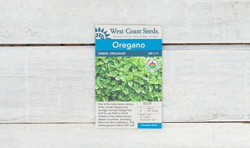 Organic Greek Oregano Seeds- Code#: BU1835