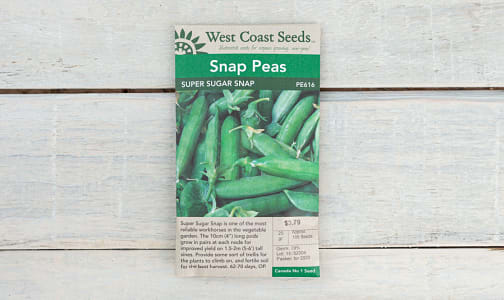 Super Sugar  Pea Seeds (OP)- Code#: BU1868
