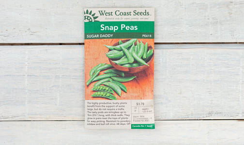 Sugar Daddy  Snap Pea Seeds- Code#: BU1870