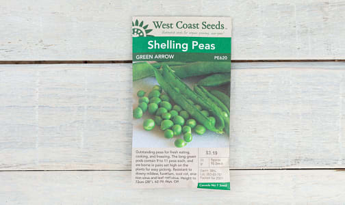 Green Arrow  Shelling Pea Seeds (OP)- Code#: BU1872