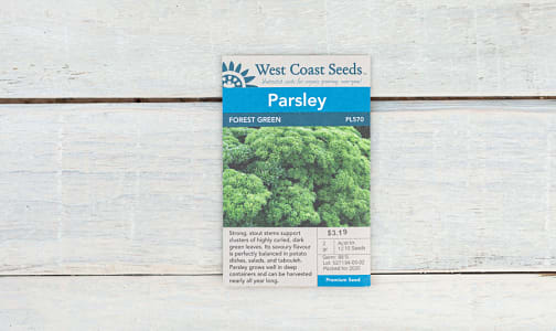 Forest Green  Parsley Seeds- Code#: BU1876