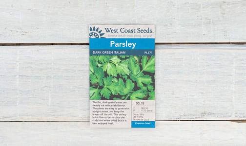 Dark Green  Italian  Parsley Seeds- Code#: BU1877