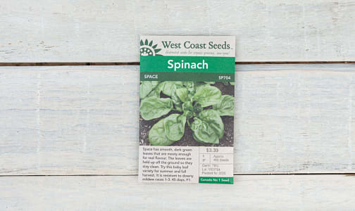 Space  Spinach Seeds- Code#: BU1886