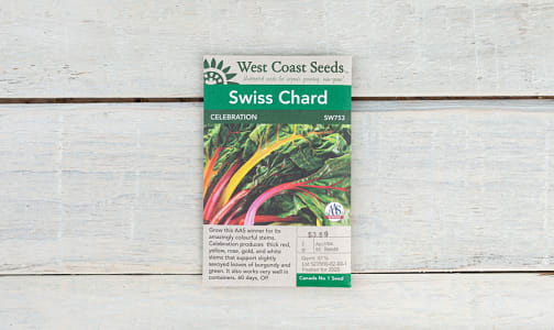 Celebration  Swiss Chard Seeds- Code#: BU1899