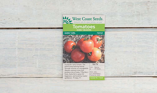 Early Girl  Tomato Seeds- Code#: BU1900