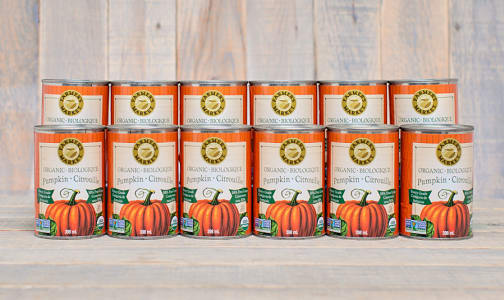 Organic Canned Pumpkin Puree - BPA Free - CASE- Code#: BU428-CS