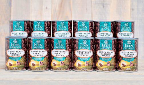 Organic Kidney Beans - BPA Free - CASE- Code#: BU436-CS