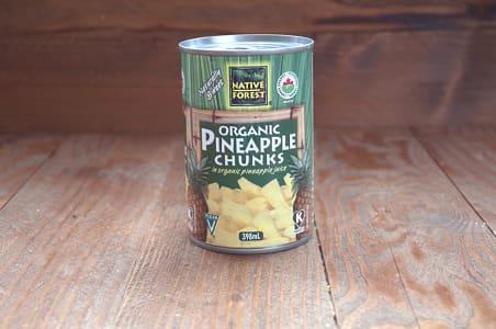 Organic Pineapple - Chunks - BPA Free- Code#: BU463