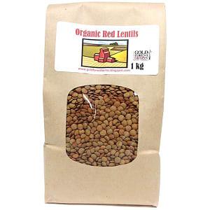 Organic Red Lentils- Code#: BU8011