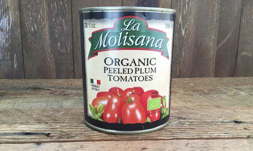 Organic Peeled Plum Tomatoes Organic w/ Basil- Code#: BU8033