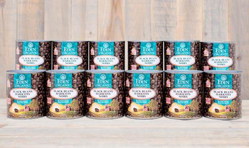 Organic Black Beans - BPA Free - CASE- Code#: BU953-CS