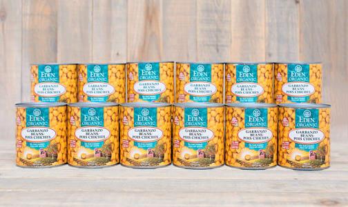 Organic Garbanzo Beans - BPA Free - CASE- Code#: BU954-CS