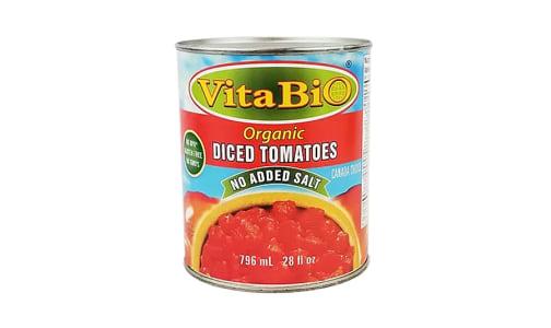 Organic Diced Tomatoes - No Added Salt- Code#: BU9900