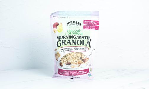 Organic Morning Granola - Organic Coconut & Raisin- Code#: CE0050
