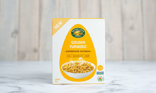 Organic Golden Turmeric Superfood Oatmeal- Code#: CE0092