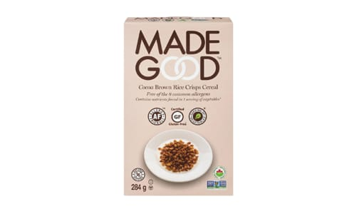 Organic Cereal - Chocolate Brown Rice- Code#: CE0098