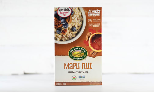 Maple Nut Instant Hot Oatmeal- Code#: CE0129